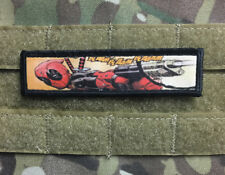 "1x4 Deadpool ""Bam Bam"" Morale Patch Tactical ARMY Hook Military USA Badge Flag"