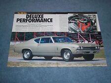 "1969 Chevelle 300 Deluxe Sedan Article ""Deluxe Performance"" 300hp 350"