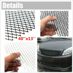 "Silver Universal Aluminum Car Vehicle Body Grille Net Mesh Grill Section 40""x13"""