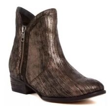 Seychelles Lucky Penny Copper Metallic Zip Ankle Boots Size 8.5 Anthropologie