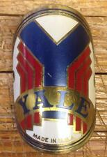 antique YALE HEAD BADGE tag emblem NEW OLD STOCK