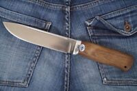 "A&R Zlatoust Russian butcher knife ""Taezhnyj""+ sheath (Steel-95x18, Walnut)"