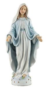"Miraculous Mary Statue Studio Collection Veronese Resin 8 1/4"" Religious"