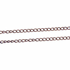2, 5 or 10m Antique Copper Iron Side Twist Chain 6.5x4x0.9mm Nickel Free