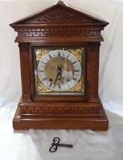 More details for antique german winterhalder & hofmeier chiming mechanical mantel clock c 1925