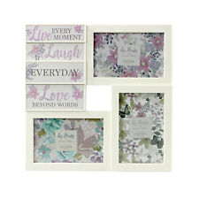 Floral Cream Multi Picture Photo Set Frames Wall Collage Gift Home Love Family