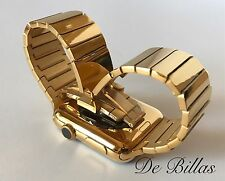 24K Gold 42MM Apple Watch DIAMOND polished Gold Link Band CUSTOM - BAND ONLY