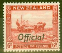New Zealand 1937 6d Scarlet SG0127 P.13.5 x 14 Fine & Fresh Lightly Mtd Mint