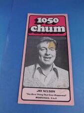 1050 CHUM RADIO STATION TORONTO CANADA PROGRAM TOP 30 SONGS MAY 1974 JAY NELSON