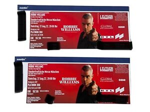 ROBBIE WILLIAMS Konzert Tickets München 27.08.2022 -2 Tickets Stehplatz PLATINUM