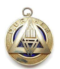 Masonic pendant sterling silver Durham 1933 hallmarked