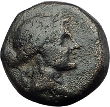 350-100BC Authentic ANCIENT Original Greek City Coin APOLLO and TRIPOD i63681