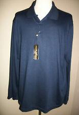 Andrew Fezza XXL Men's Dark Blue Polo Soft Knit Long Sleeve MSRP $44.00