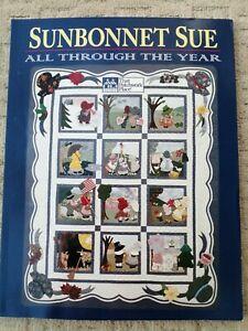 SUNBONNET SUE ALL THROUGH THE YEAR CALENDAR QUILTS PATCHWORK BOOK 24 PATTERNS