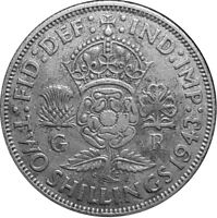 1943 - ONE FLORIN/TWO SHILLING - King George VI - Great Britain #P254