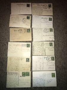 🔥12 Vintage One-Cent Ben Franklin & George Washington 1900-1950s Postcards