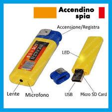 MISCROSPIA CIMICE ACCENDINO TELECAMERA VIDEO CAMERA SPIA SPY USB AUDIO VIDEO