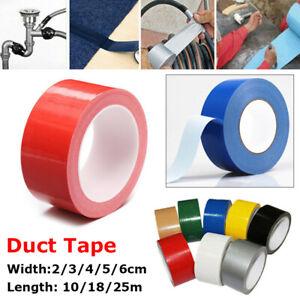 10/18/25M Duct Gaffa Gaffer Waterproof Self Adhesive Cloth Tape 2/3/4/5/6cm New