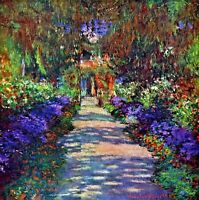 Garden at Giverny by Claude Monet Canvas Picture HD Print Wall Art Poster