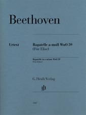 Henle Urtext Beethoven Bagatelle in A minor WoO 59 (Fur Elise) Revised Edition