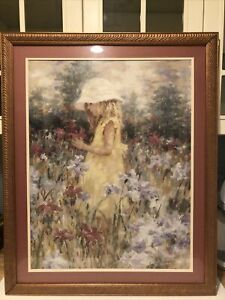 Harrison Rucker NATURE'S CHILD RARE ACRYLIC ON BOARD PAINTING Framed 26x32