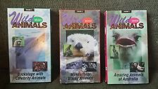 Wild About Animals VHS tapes volumes 2, 3 and 4 Australia, Wacky, Celebrity Good