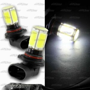 2 X 9005 HB3 White 6 DRL COB LED 8W DRL Daytime Running Light Bulbs Universal 3