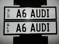 Audi A6 / A6 AUDI prestige number plate Queensland personalised investment