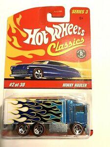 "Hot Wheels (2006) ""Hiway Hauler"" Metallic Blue w ""Red Line"" Tires New NIP"