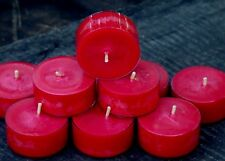 10pk 120hr/pk FRANKINCENSE & WILD BERRIES Triple Scented SOY TEA LIGHT CANDLES
