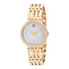 Reloj De Cuarzo Movado 0607054 para mujer de esperanza Madre De Perla Blanca