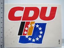 Aufkleber Sticker CDU - Merkel - Europa - BRD - Politik (5701)