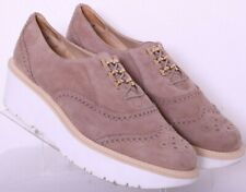 Stuart Weitzman Zealous Tan Brogue Wingtip Platform Oxford Shoes Women's US 11M
