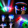 10Pcs Laser LED Finger Ring Light Glow Flashing Light up Party Favors Lamp Cool