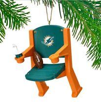 Miami Dolphins Stadium Chair Ornament - NFL