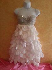 SAMPLE/Petal Bridal Wedding 2Pc Backless Babydoll Tutu Mini Dress Skirt Set