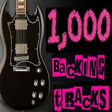 1,000 GUITAR BACKING TRACKS , JAM TRACKS, FOR LEAD GUITAR