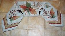 Fall Treasure Autumn Leaves & Acorns Tapestry Table Runner