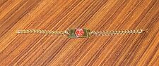 All brass medical alert bracelet for DRUG ALLERGIES  - BRAND NEW