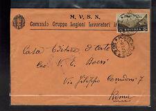 1937 Eritrea Cover Army Post to Rome Italy Comando Gruppo Legioni Lavoratori