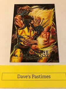 1992 Marvel Masterpieces WOLVERINE vs SABRETOOTH Spectra Etch Foil CHASE Card 3D