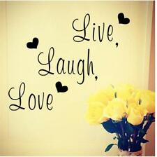 Creative Removable Live Laugh Love Quote Decal Art Wall Stickers Home Decor J