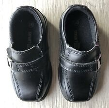 Smart Fit Toddler Baby Boy Black Dress Formal Loafers Shoes Squared Toe 6 Wide