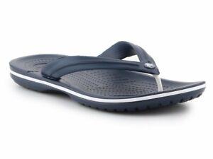 Crocs Crocband Croslite Flip Flops Thongs Relaxed Fit Summer - Navy