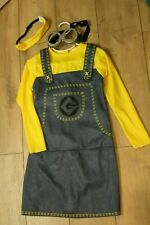 Imagine Minion costume girls size 8 Guc with matching goggle and hair band