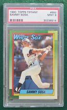 Sammy Sosa rookie card graded PSA 9 Mint - 1990 Topps Tiffany Chicago Cubs RC