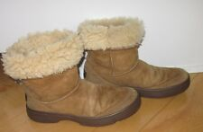 UGG UGGS Wms Tan Light Brown Suede Winter Boots US 6