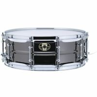 "Ludwig LW5514C Black Magic Snare Drum w/ Chrome Hardware & Tube Lugs, 5.5"" x 14"""