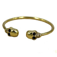 Retro Alloy Metal Jewelry Gothic Rock Cool Cuff Skeleton Skull Bangle Bracelet