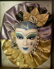 Clay Art Ceramic Face Wall Mask, Jester Decorative, Wall Hanging